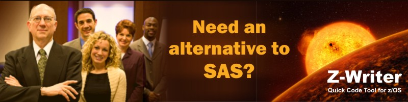 Need an alternative to SAS on your Mainframe. You need z/Writer.