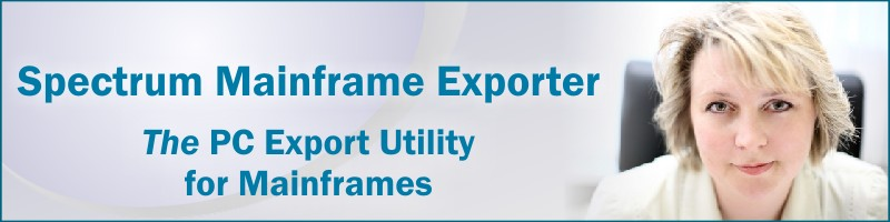 Spectrum Mainframe Exporter exports mainframe data to Microsoft Excel.